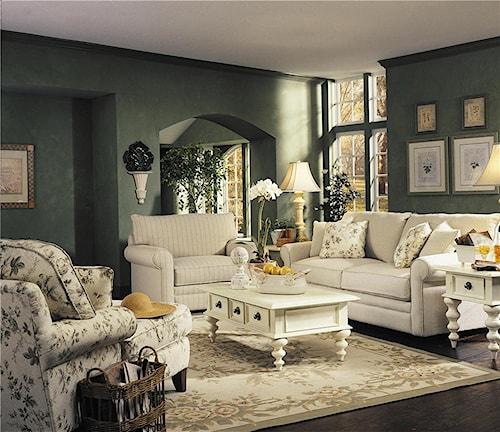 Klaussner Comfy Stationary Living Room Group