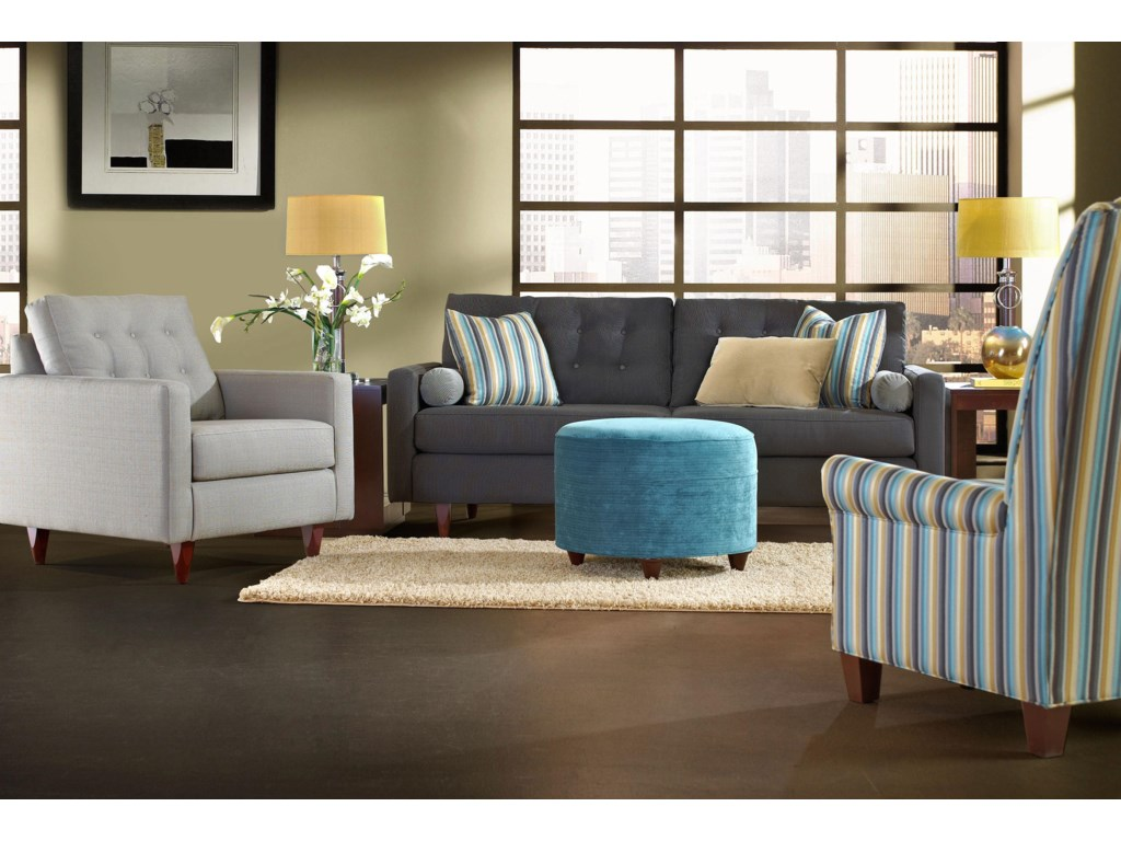 Klaussner CravenStationary Living Room Group