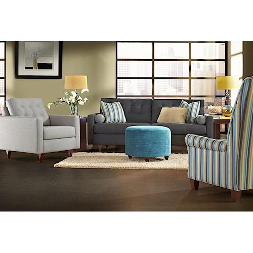 Klaussner Craven Stationary Living Room Group