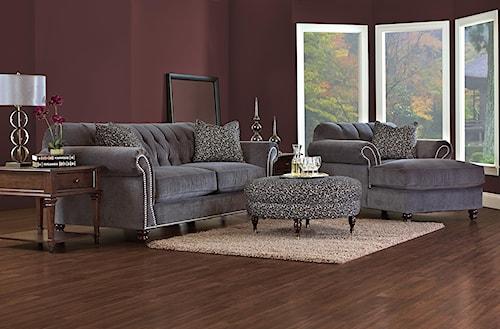 Klaussner Flynn Stationary Living Room Group