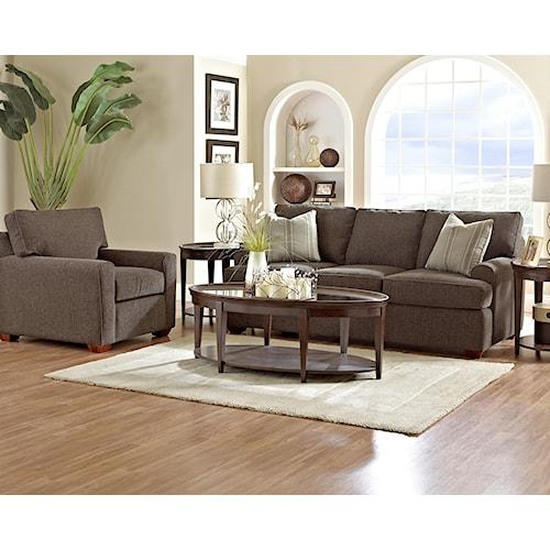 Klaussner Hybrid Stationary Living Room Group