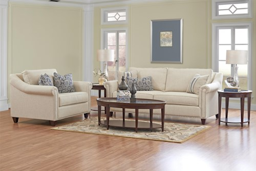 Klaussner Langley Stationary Living Room Group