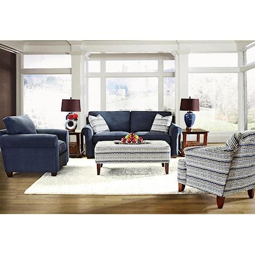 Klaussner Lillington Distinctions  Stationary Living Room Group