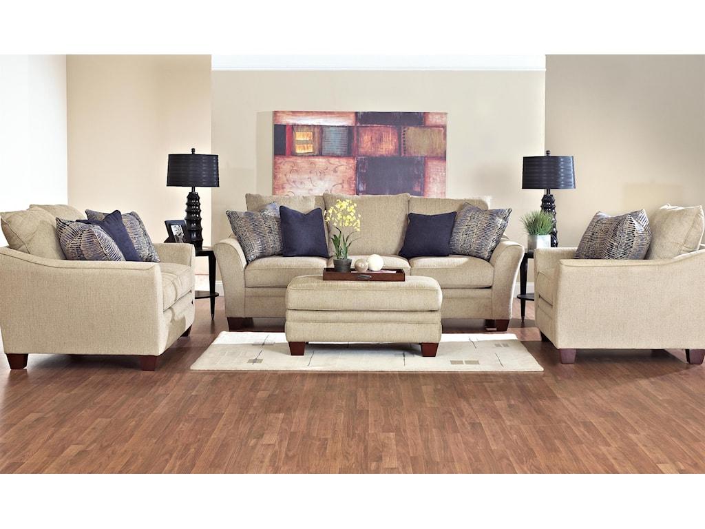Klaussner PosenStationary Living Room Group