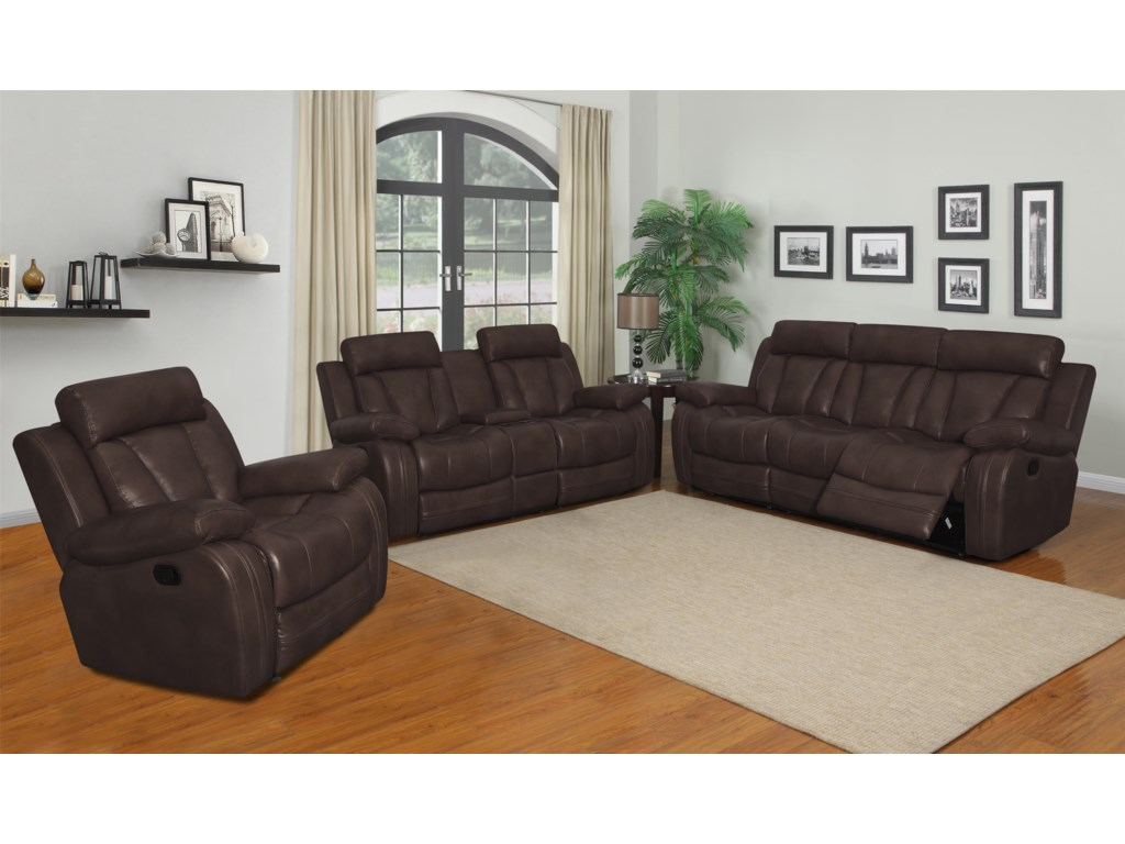 Klaussner International  Atticus-USReclining Living Room Group