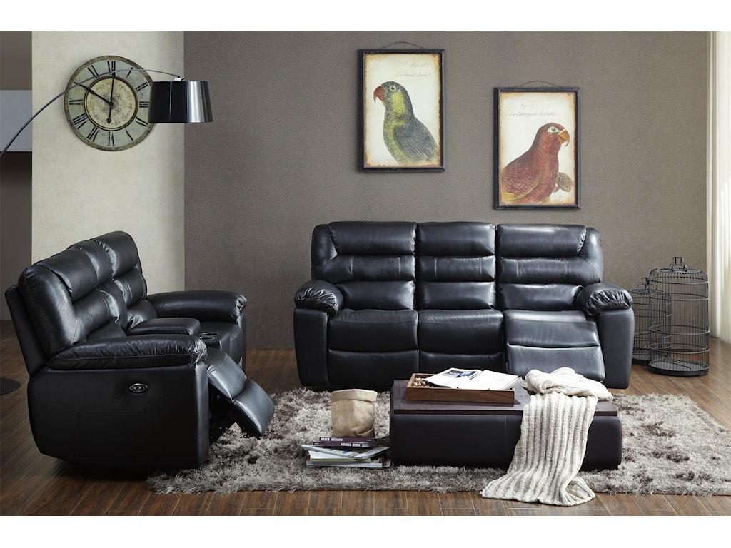 Kuka Home 1711Reclining Living Room Group