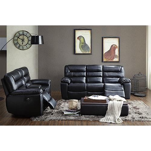 Kuka Home 1711 Reclining Living Room Group