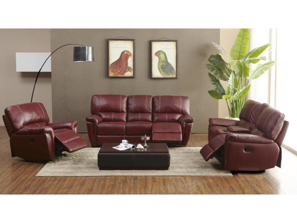 Kuka Home 1738Reclining Living Room Group