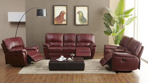 Kuka Home 1738 Reclining Living Room Group