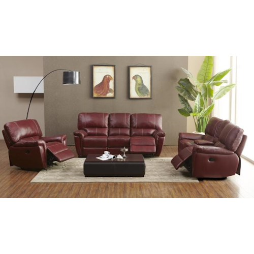 Kuka Home 1738 Reclining Living Room Group