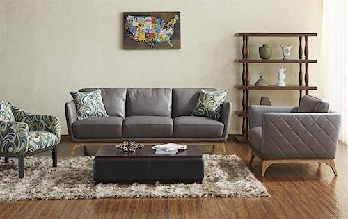 Kuka Home 1961 Stationary Living Room Group