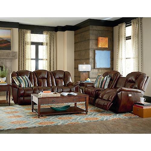 La z boy maverick reclining living room group rotmans for La z boy living room set