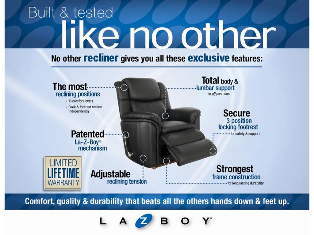 La-Z-Boy AstorLuxury Lift Power-Recline-XR w/ Massage
