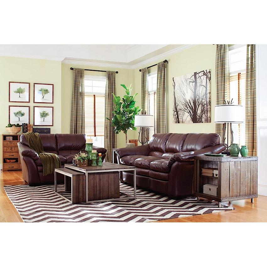 Burton Leather Sofa: Burton (908) By La-Z-Boy