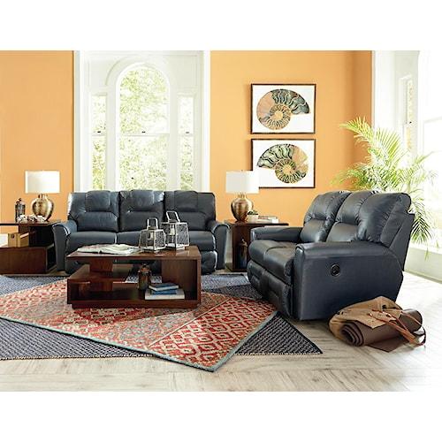 La z boy easton reclining living room group boulevard for La z boy living room set