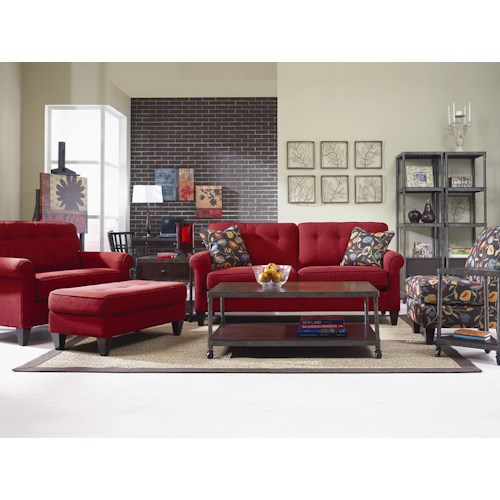 La Z Boy Laurel Stationary Living Room Group Adcock Furniture Upholstery Group Athens