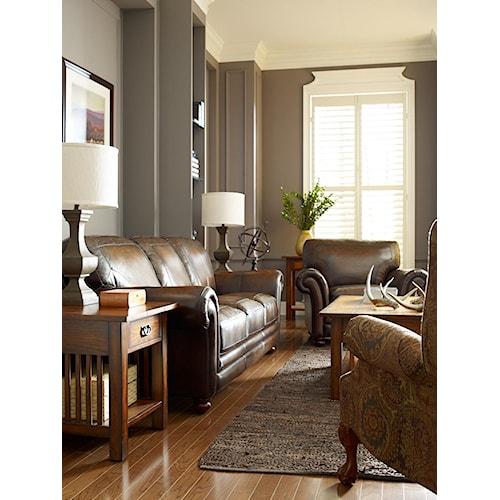 La z boy william stationary living room group boulevard for La z boy living room set