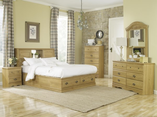 2 Drawer Queen Bookcase Bed Bedroom Group