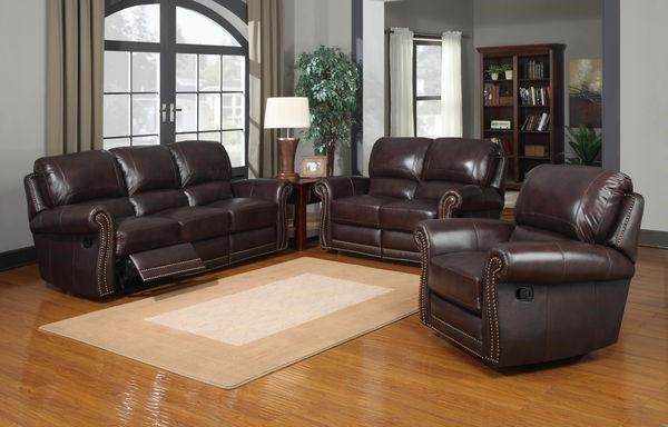 Leather Italia USA JamesReclining Living Room Group