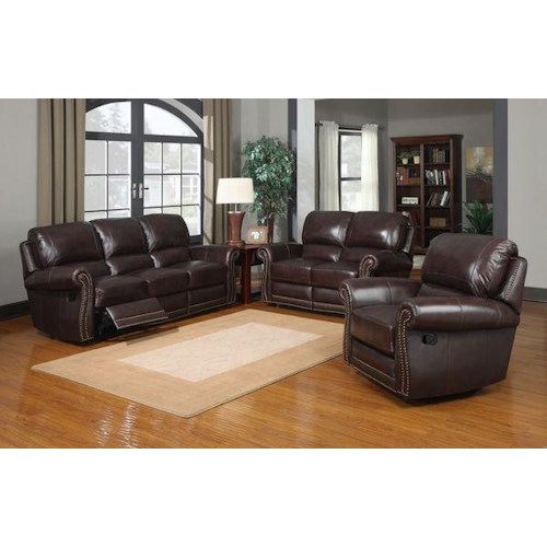Leather Italia USA (Beaverton Store Only) James Reclining Living Room Group