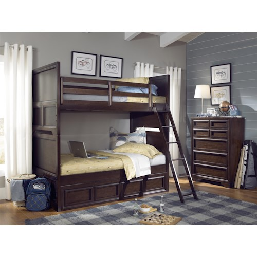 Legacy Classic Kids Benchmark Twin Over Twin Bunk Bedroom Group