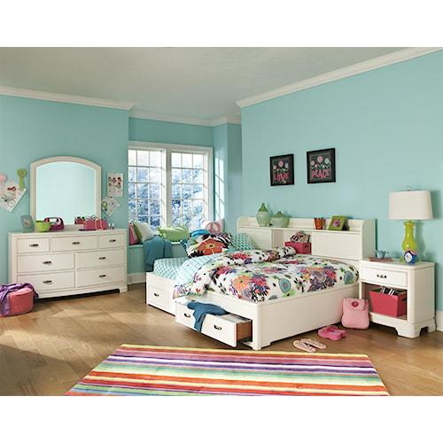 Legacy Classic Kids Park City White Full Bedroom Group