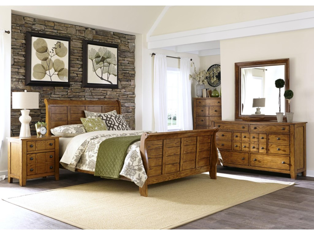 Liberty Furniture Grandpa's CabinKing Bedroom Group
