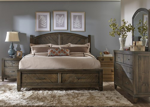 Liberty Furniture Modern Country King Bedroom Group