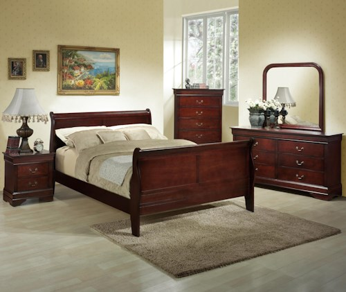 Lifestyle 5933A King Bedroom Group