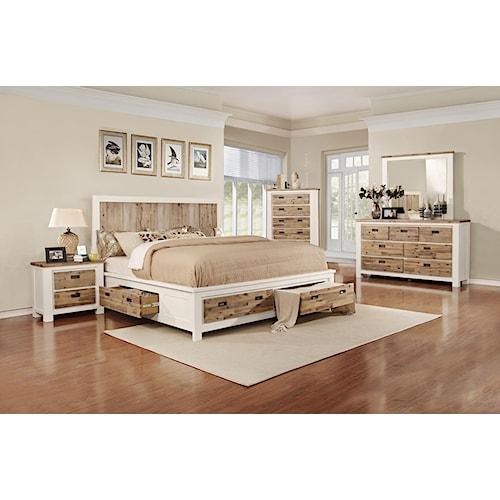 Lifestyle Tommy 5-Piece King Storage Bedroom Set