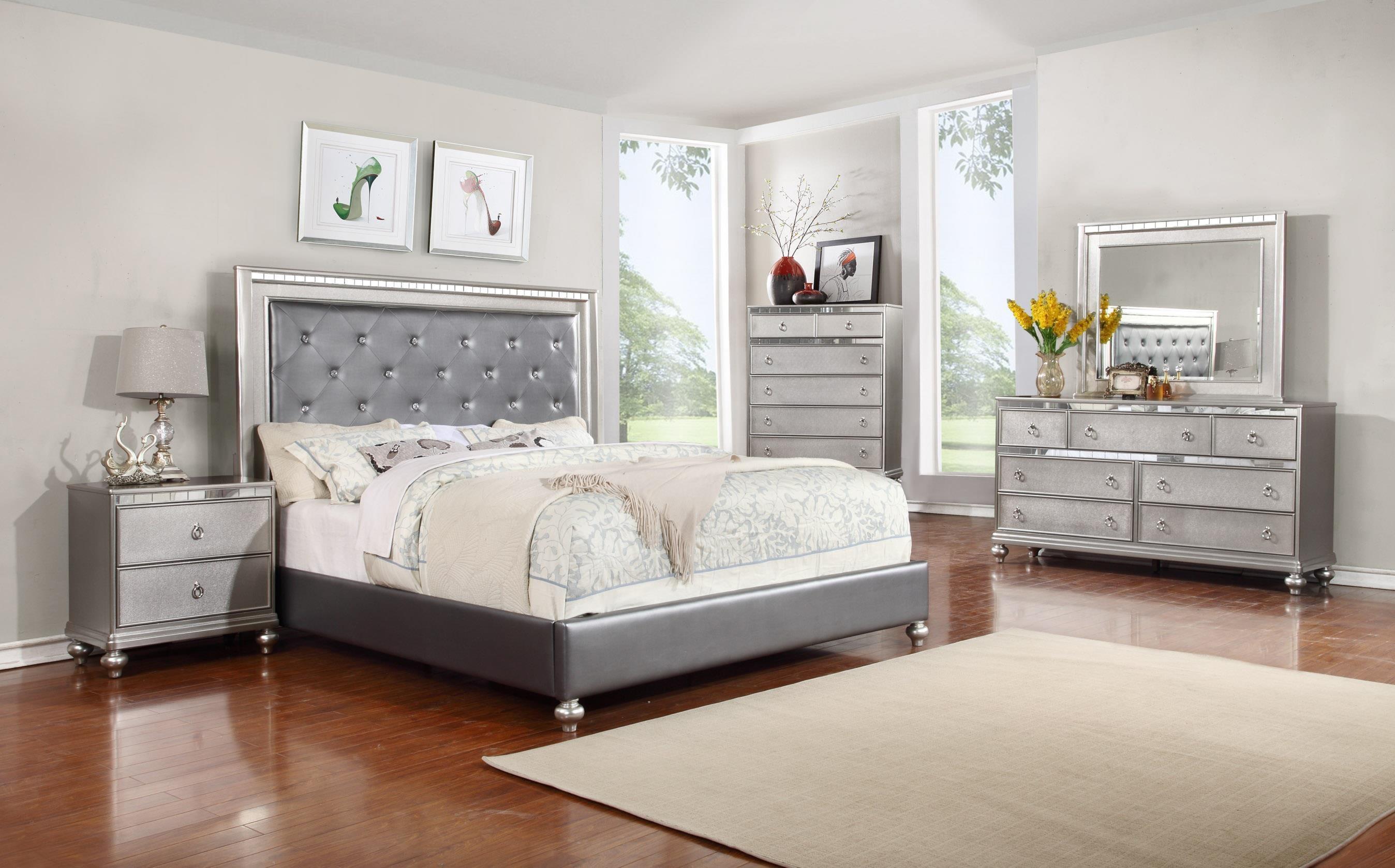 Bedroom Sets Ri glam 5pc queen bedroom set - rotmans - bedroom group worcester