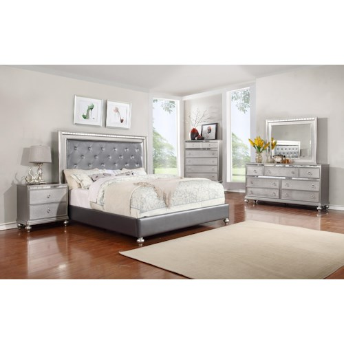 Lifestyle Glam 5PC King Bedroom Set