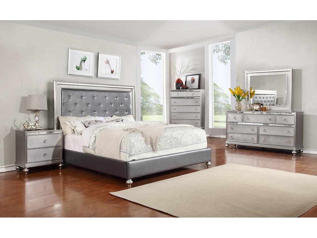 Glam 5PC Queen Bedroom Set | Rotmans | Bedroom Group
