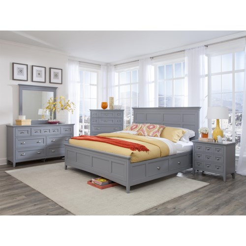 Magnussen Home Mason 5PC King Storage Bedroom Set