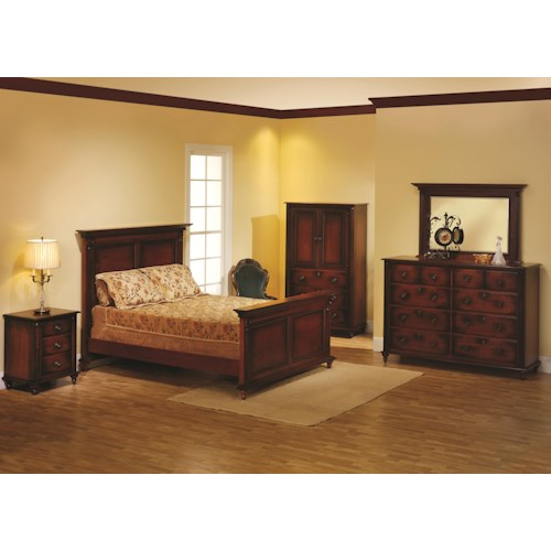 Rotmans Amish Fur Elise Queen Panel Bed Bedroom Group