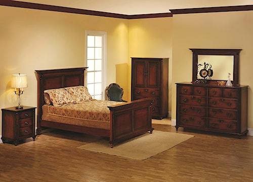 Rotmans Amish Fur Elise Full Panel Bed Bedroom Group