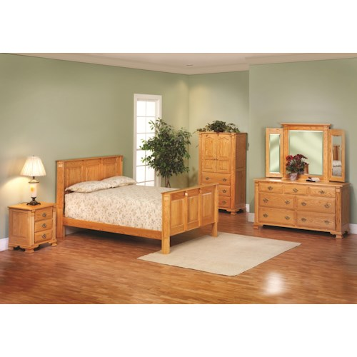 Rotmans Amish Journeys End King Panel Bedroom Group