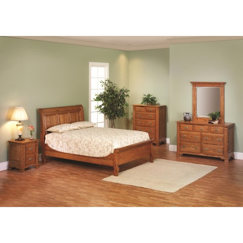 Rotmans Amish Journeys End Queen Sleigh Bedroom Group
