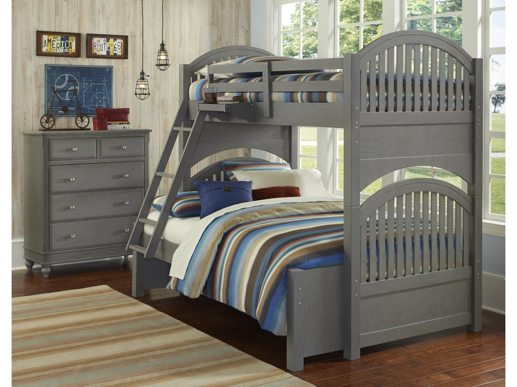NE Kids Lake HouseTwin Over Full Standard Bunk Bed