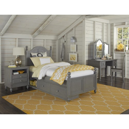NE Kids Lake House Twin Payton Storage Bed Group 6