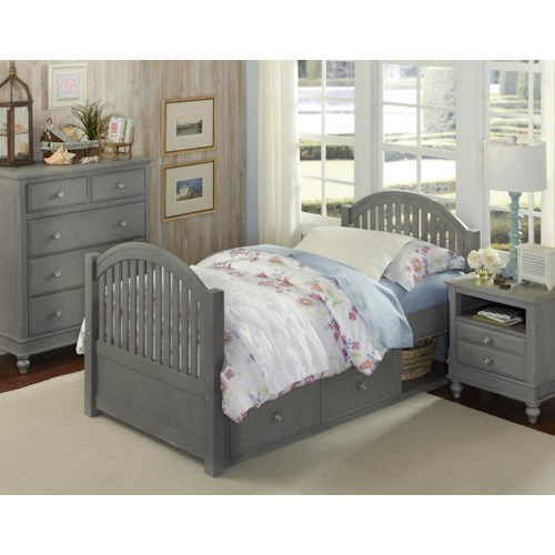 NE Kids Lake House Twin Adrian Storage Bed Group 2