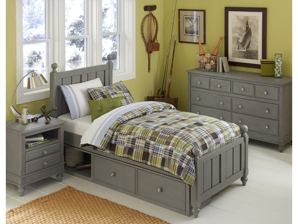 NE Kids Lake HouseTwin Kennedy Storage Bed