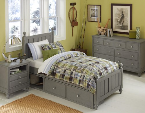 NE Kids Lake House Twin Kennedy Storage Bed Group 4