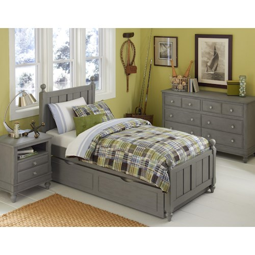 NE Kids Lake House Twin Kennedy Trundle Bed Group 4