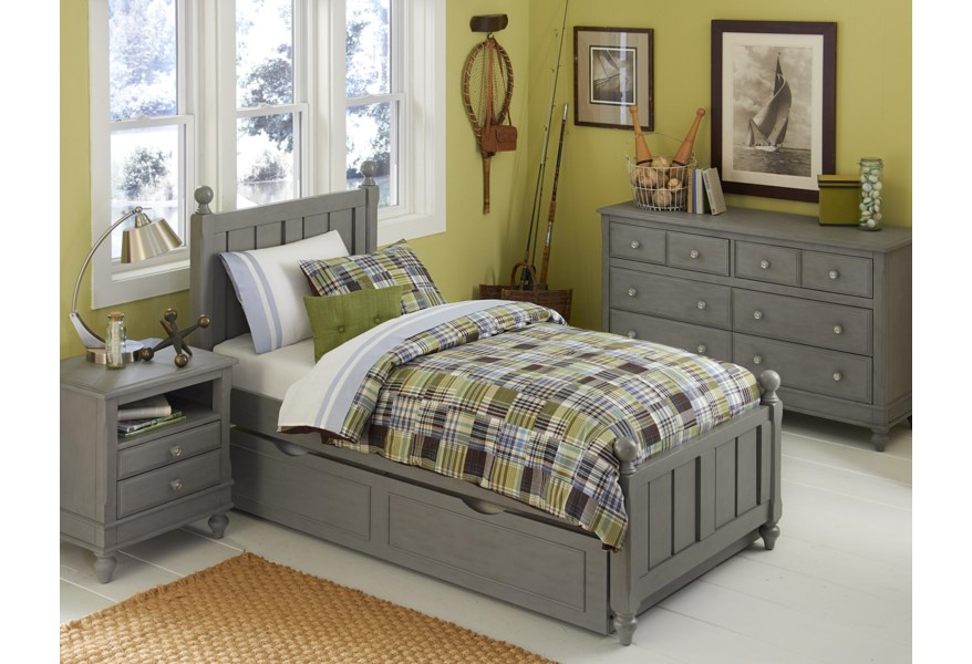 Ne Kids Lake House 200 T Bed Group 4 Twin Kennedy Trundle Bed Group 4 O Dunk O Bright Furniture Bedroom Groups