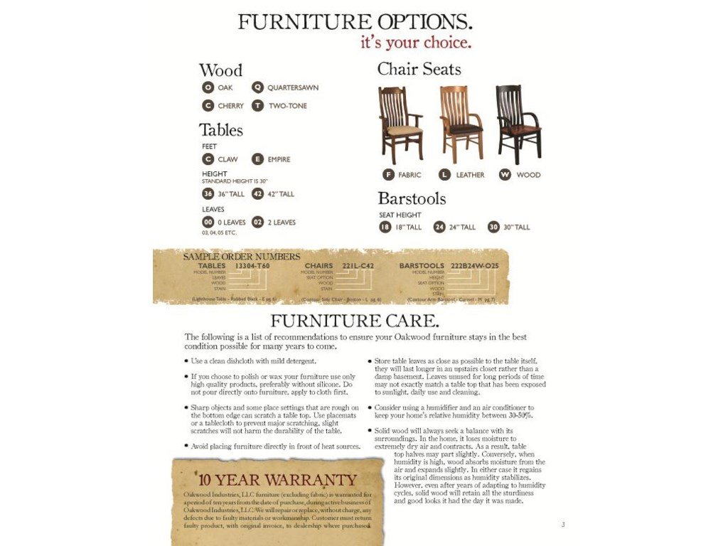 Customize Your Dining Room with Different Table Styles as well as Wood and Stain Options