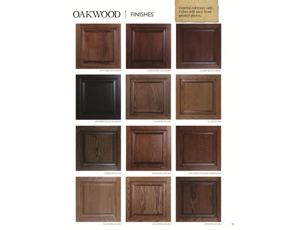 Choose From Several Finish Options