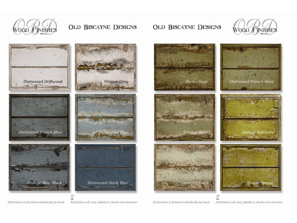 Wood Finishes Offered in Varying Styles and Distress Levels