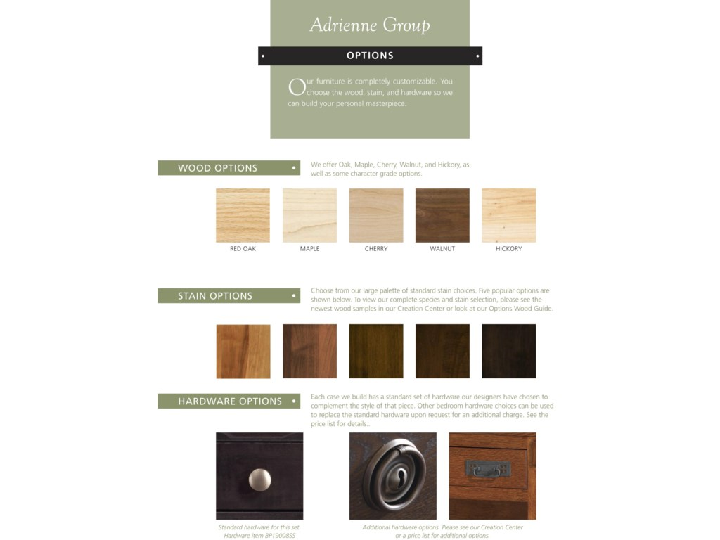 Palettes by Winesburg Adrienne PWKing Bedroom Group