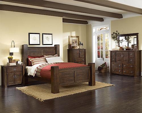 Progressive Furniture Trestlewood California King Bedroom Group